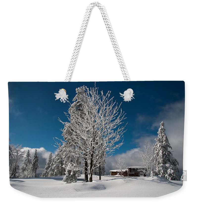 Wurmberg Weekender Tote Bag featuring the photograph Winter On The Wurmberg, Harz by Andreas Levi