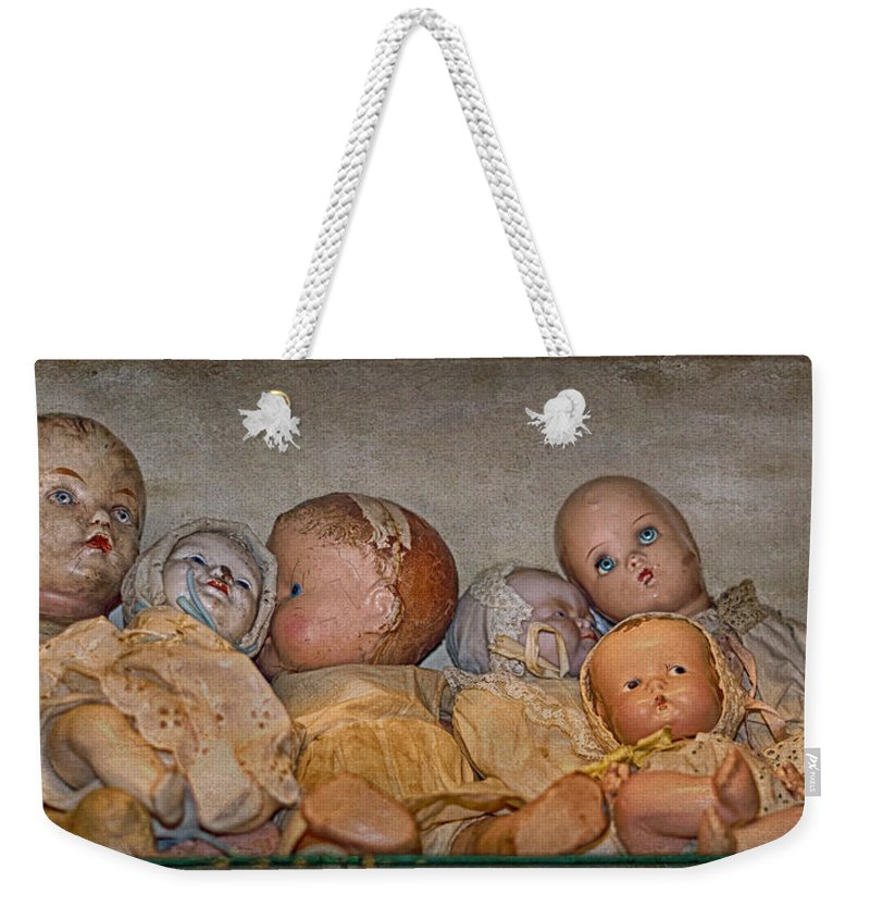 Doll Weekender Tote Bag featuring the photograph Once Loved by Nikolyn McDonald