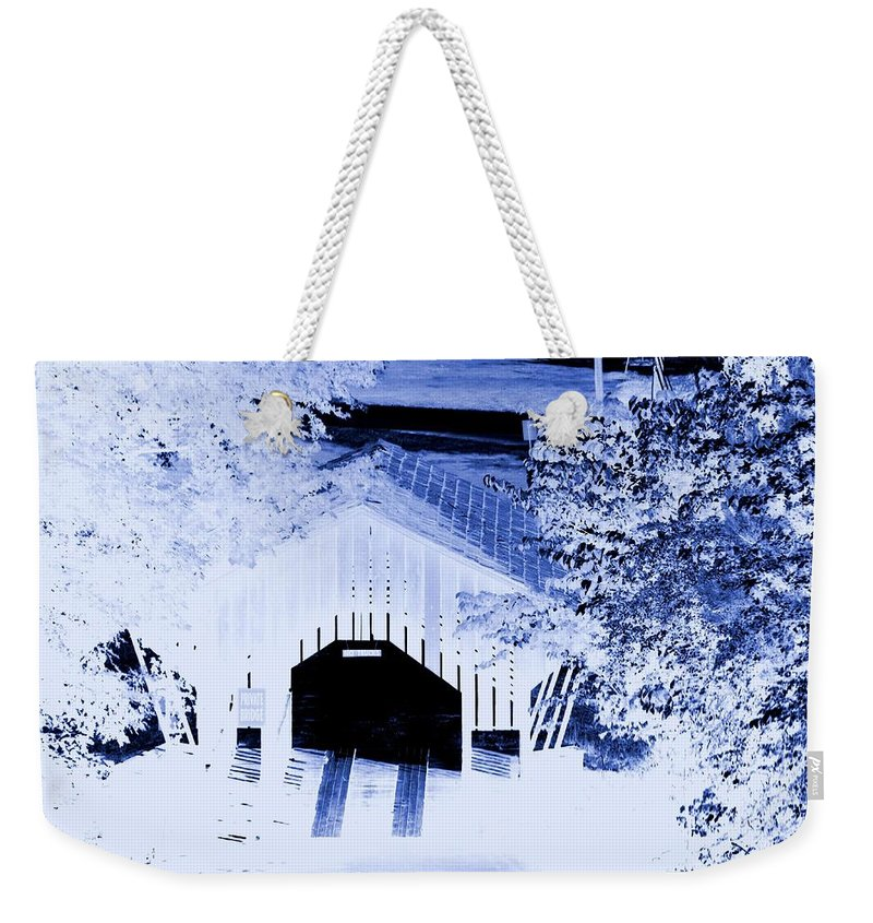 Once Upon A Winter's Eve Weekender Tote Bag featuring the digital art Once Upon A Winter's Eve by Maria Urso