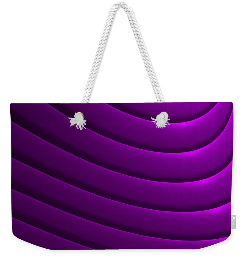 Curve Weekender Tote Bag featuring the digital art Ondulation-01 by RochVanh