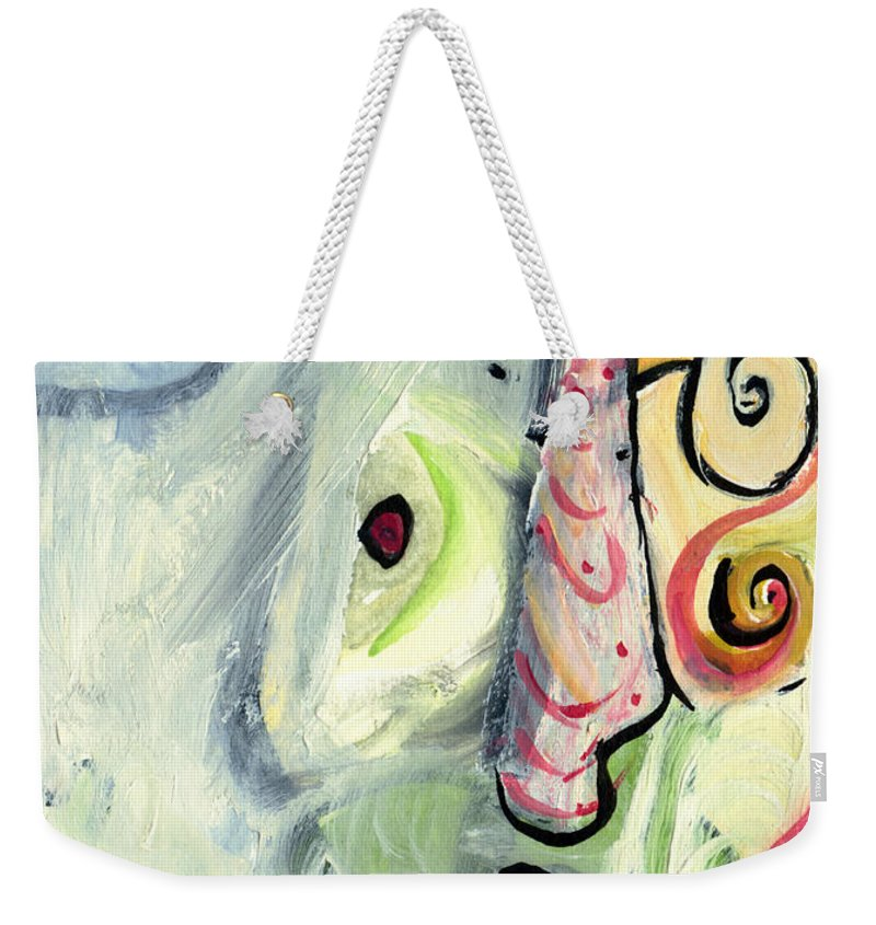 Abstract Art Weekender Tote Bag featuring the painting One In A Million by Stephen Lucas