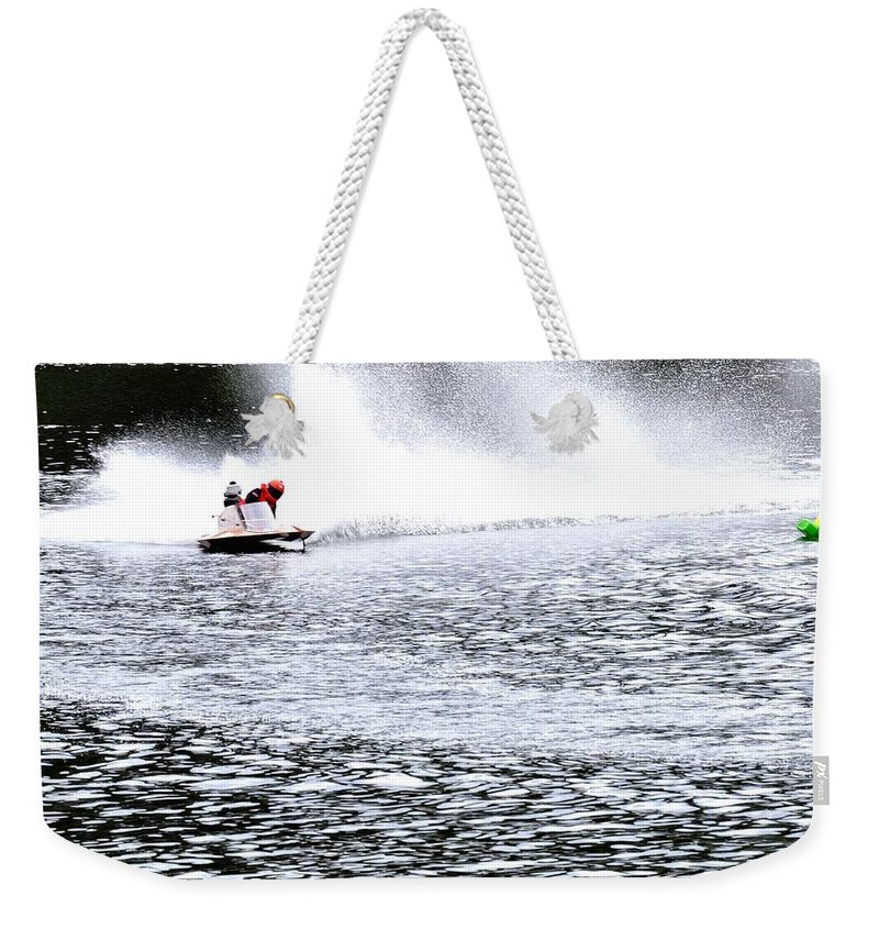 Rogers Weekender Tote Bag featuring the photograph One In Turn Two 24418 by Jerry Sodorff