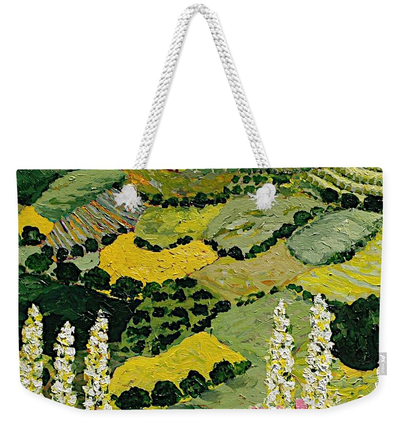 Landscape Weekender Tote Bag featuring the painting One More Smile by Allan P Friedlander