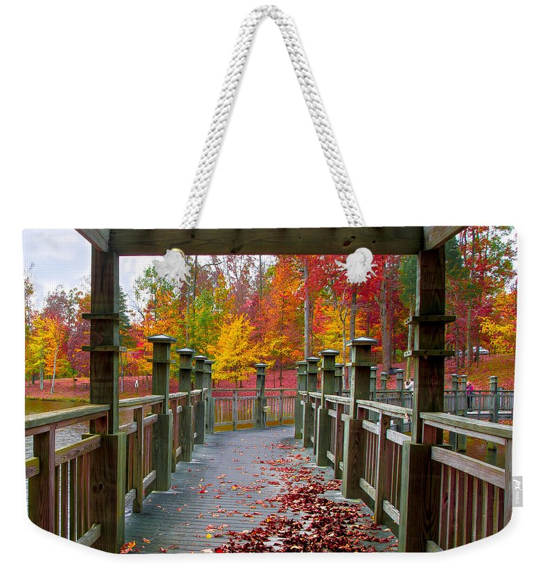 Stroll Weekender Tote Bag featuring the photograph One More Stroll by Scott Hervieux