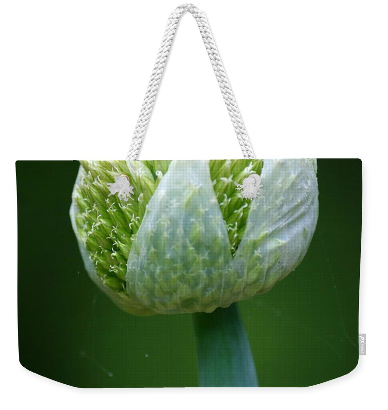 Onion Weekender Tote Bag featuring the photograph Onion by Neal Eslinger