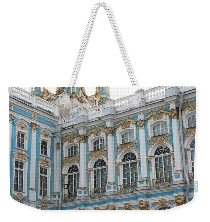 Palace Weekender Tote Bag featuring the photograph Onion Domes - Katharinen Palace - Russia by Christiane Schulze Art And Photography