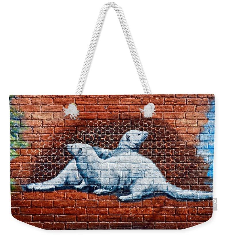 Ontario Weekender Tote Bag featuring the photograph Ontario Heritage Mural 3 by Steve Harrington