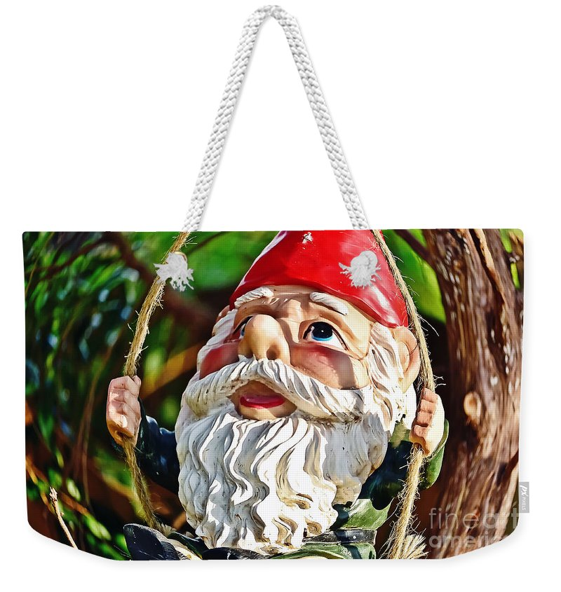 Myth Weekender Tote Bag featuring the photograph Oops Time To Go by Elvis Vaughn