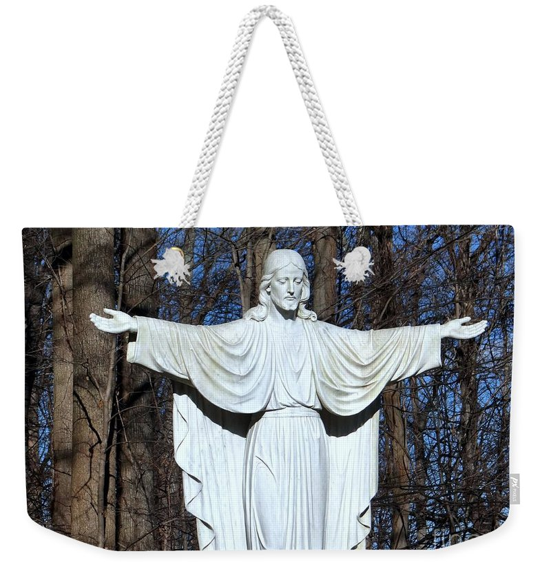 Jesus Weekender Tote Bag featuring the photograph Open Arms by Ed Weidman