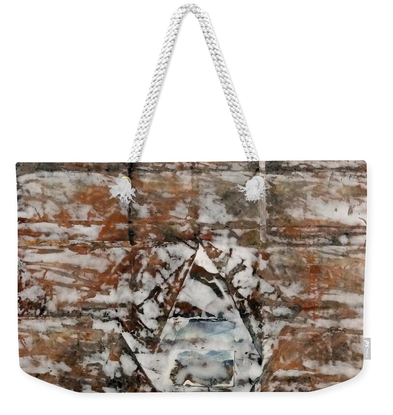 Textures Weekender Tote Bag featuring the mixed media Opening by Barbara Oertli