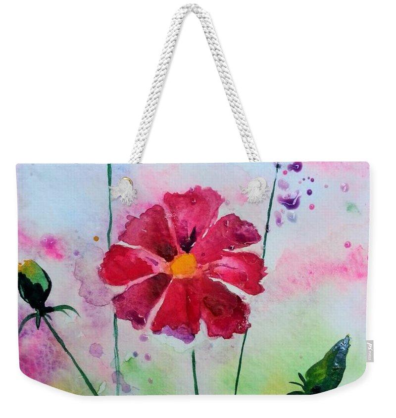 Flowers Weekender Tote Bag featuring the painting Opera Pink by Melinda Etzold