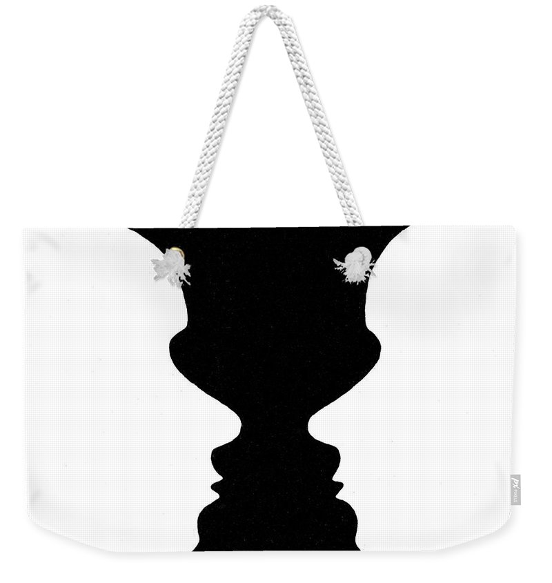 Optical Illusion Rubins Vase 1915 Weekender Tote Bag For Sale By