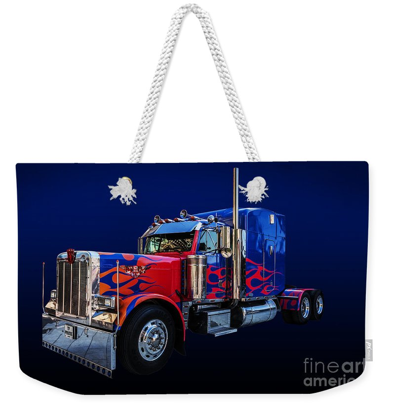 Optimus Prime Weekender Tote Bag featuring the photograph Optimus Prime Blue by Steve Purnell