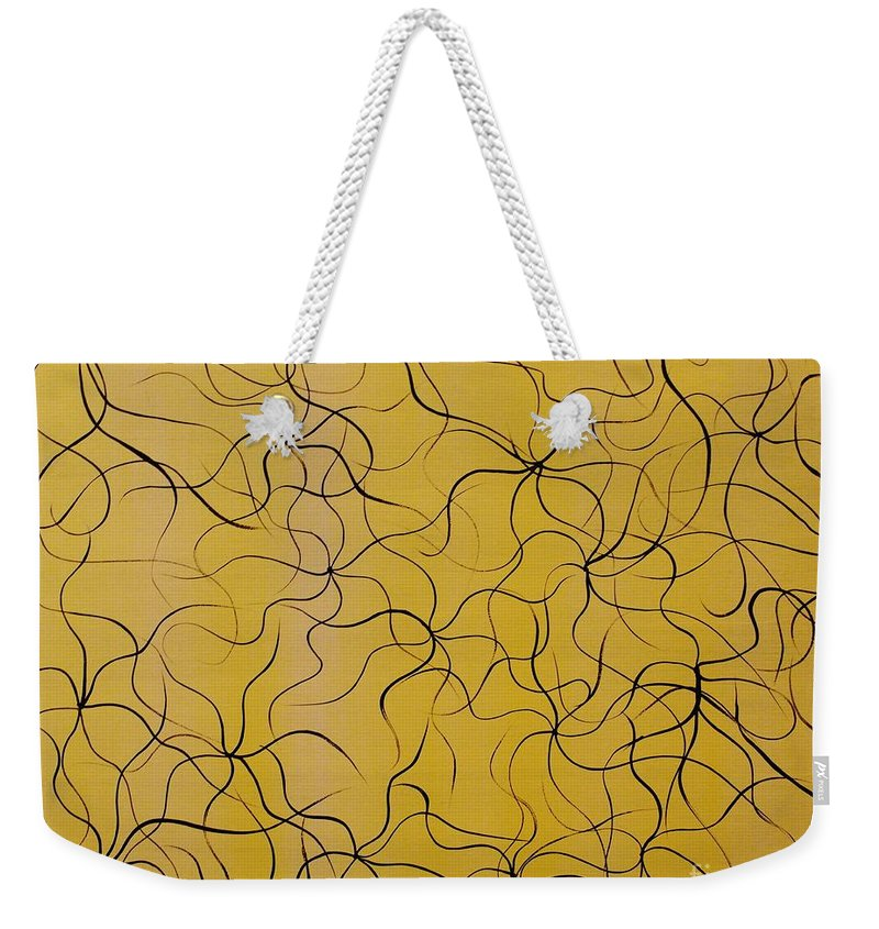 Abstract Painting Weekender Tote Bag featuring the painting Oracles Of Light by Wayne Cantrell