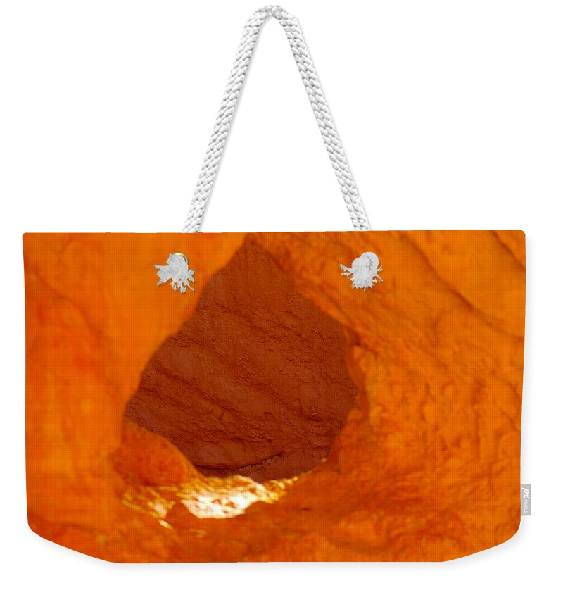 Weekender Tote Bag featuring the photograph Orange Door by Jeff Swan