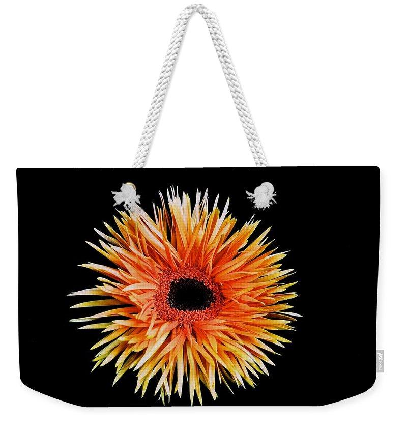 Orange Flower Weekender Tote Bag featuring the photograph Orange Flower by Kristina Deane