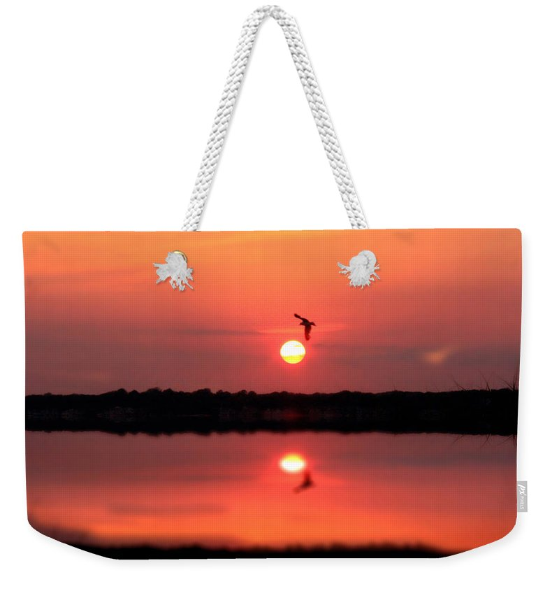Nature Art Weekender Tote Bag featuring the photograph Orange Mood by Mark Ashkenazi