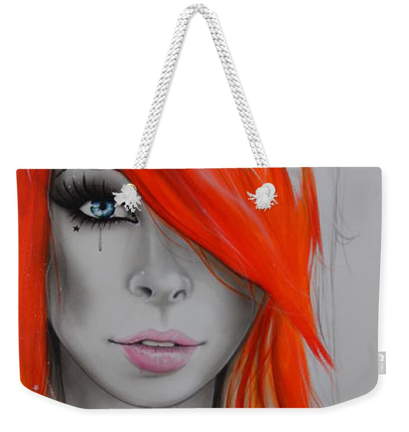 Portrait Weekender Tote Bag featuring the painting Orange Nectar by Christian Chapman Art