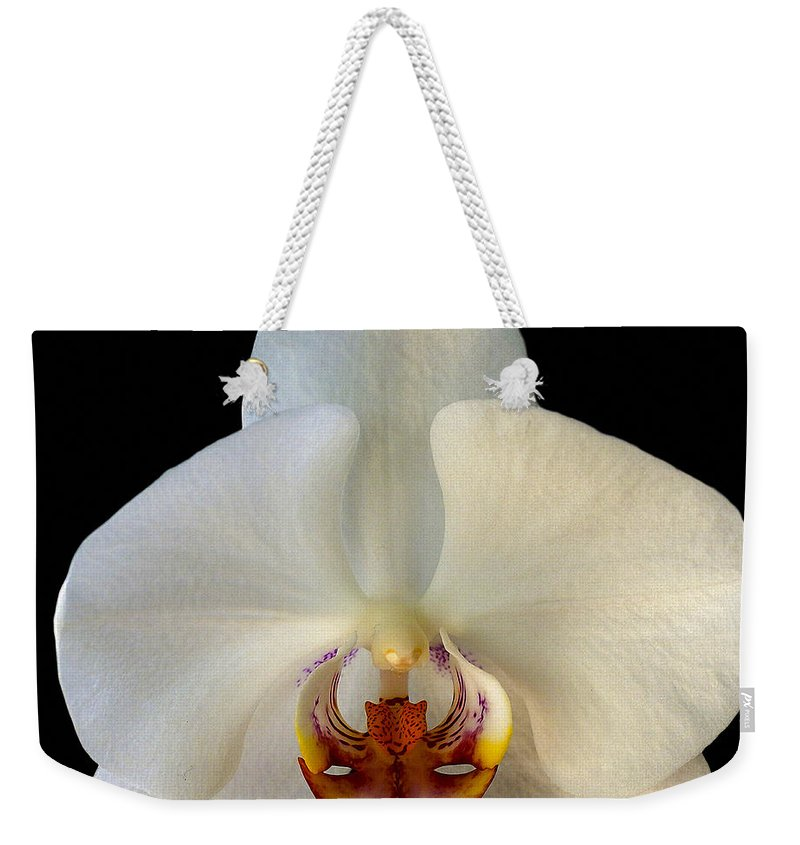 Orchid Weekender Tote Bag featuring the photograph Orchid 2 by Ingrid Smith-Johnsen