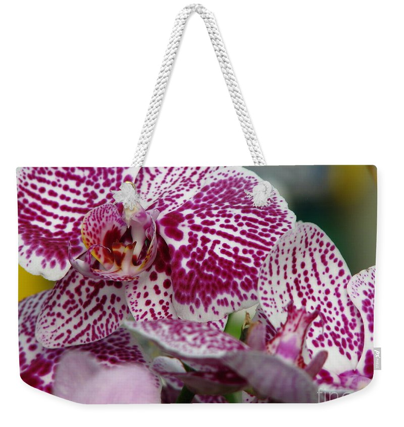 Patzer Weekender Tote Bag featuring the photograph Orchid Art by Greg Patzer
