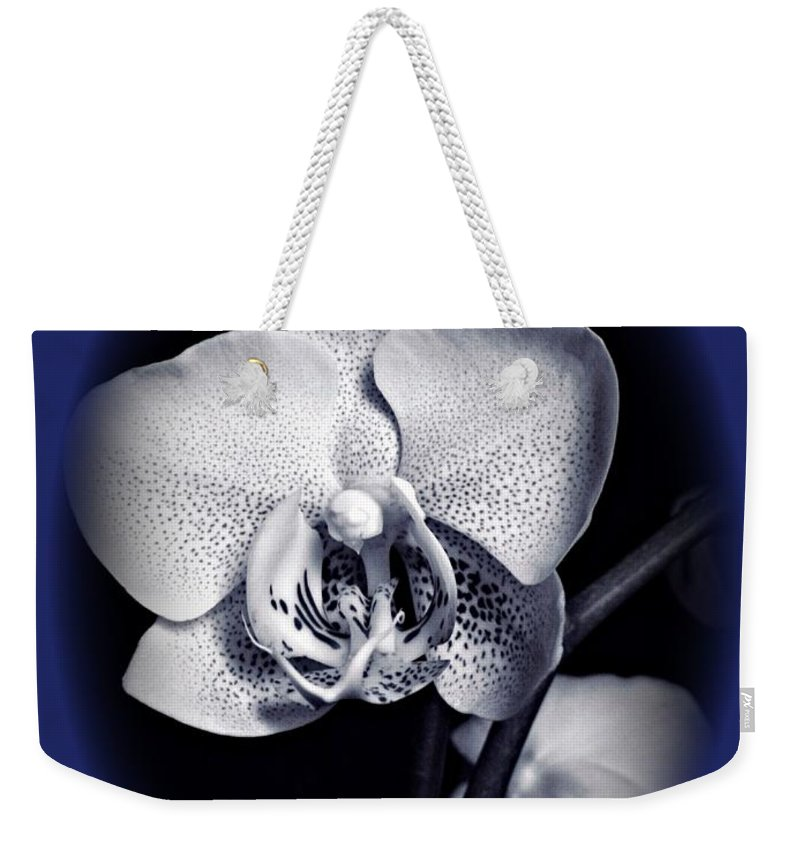 Orchid Elegance 2 Weekender Tote Bag featuring the mixed media Orchid Elegance 2 by Chalet Roome-Rigdon