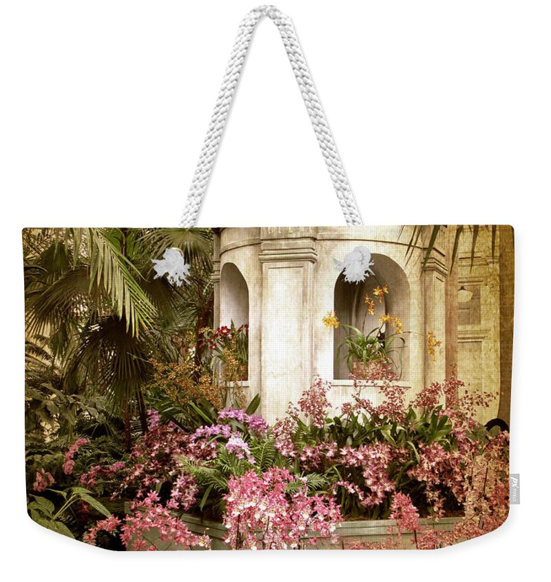 Flowers Weekender Tote Bag featuring the photograph Orchid Exhibition by Jessica Jenney