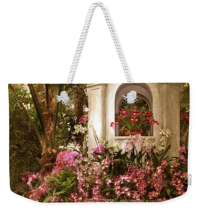 Flowers Weekender Tote Bag featuring the photograph Orchid Show by Jessica Jenney