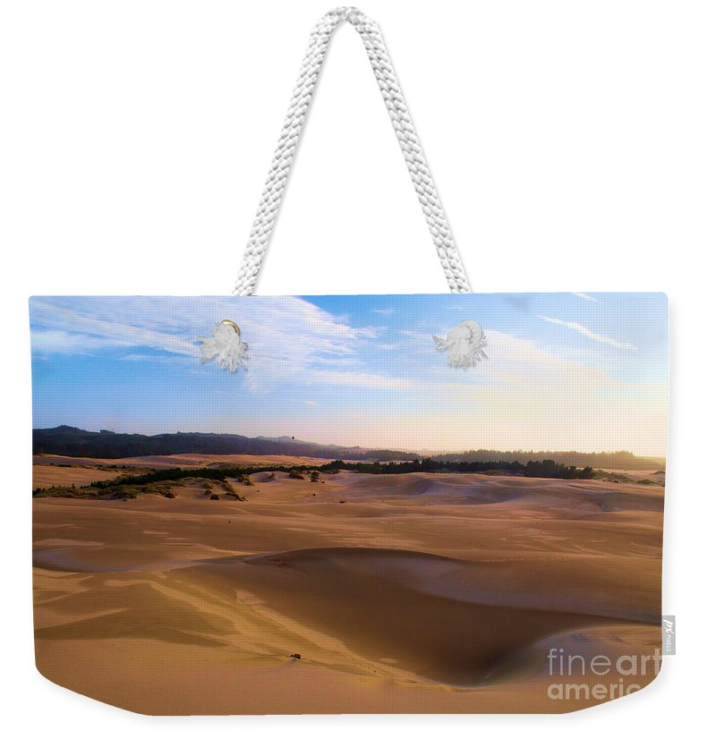 Oregon Dunes Weekender Tote Bag featuring the photograph Oregon Dunes Landscape by Adam Jewell