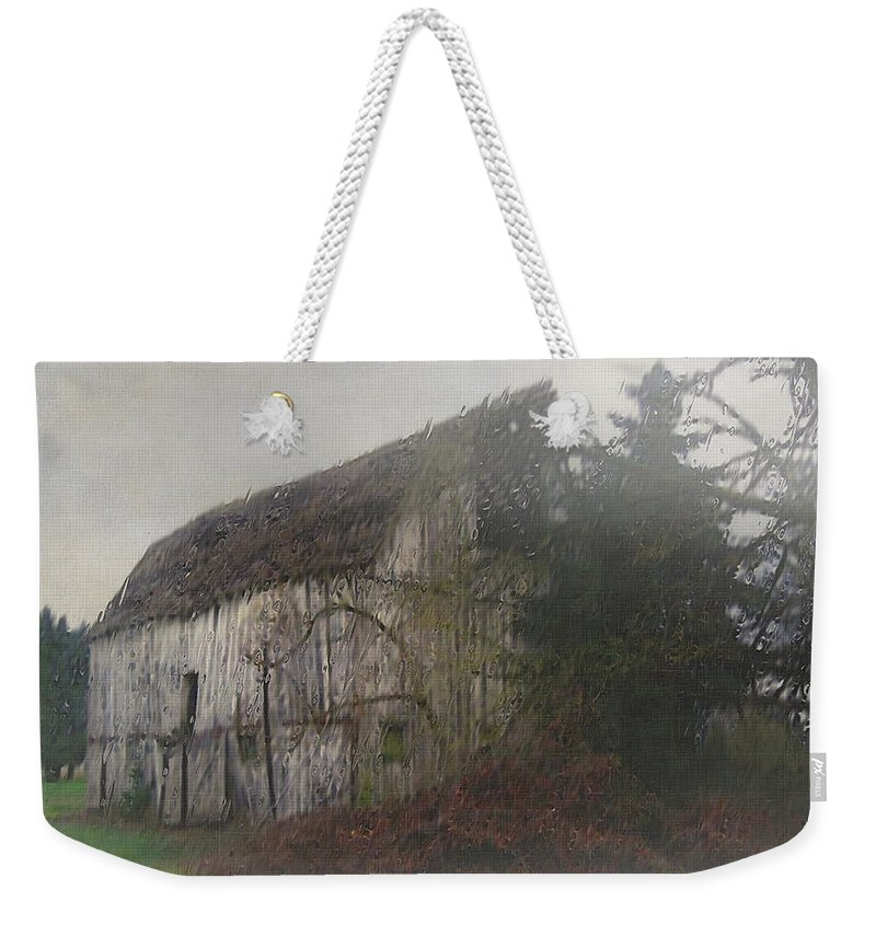 Barn Weekender Tote Bag featuring the painting Oregon Relic by RC DeWinter
