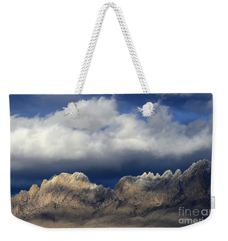 Organ Mountain Weekender Tote Bag featuring the photograph Organ Mountains New Mexico by Bob Christopher