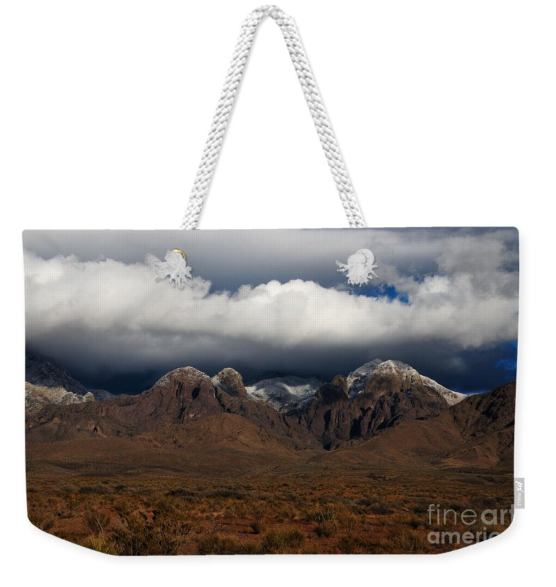 Las Cruces Weekender Tote Bag featuring the photograph Organ Mountains New Mexico by Vivian Christopher