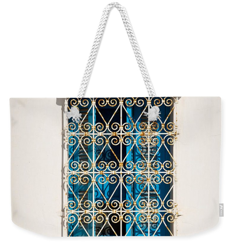 Window Weekender Tote Bag featuring the photograph Oriental Window by Delphimages Photo Creations