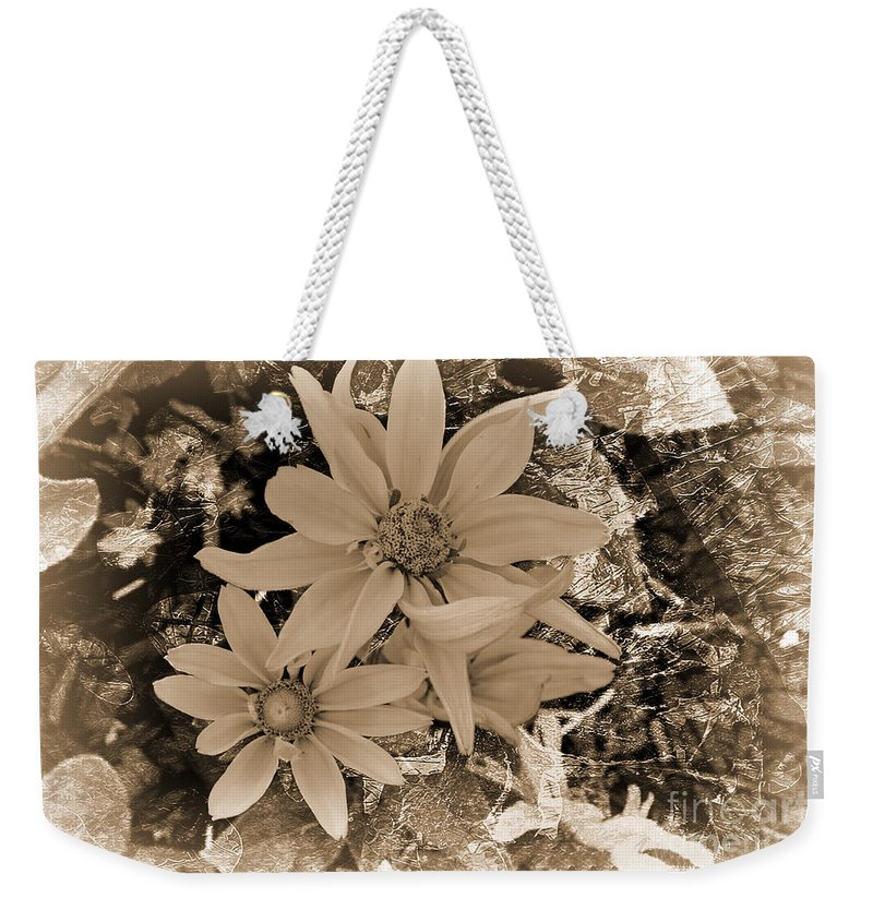 Flower Weekender Tote Bag featuring the photograph Monochrome Classic by Beverly Guilliams