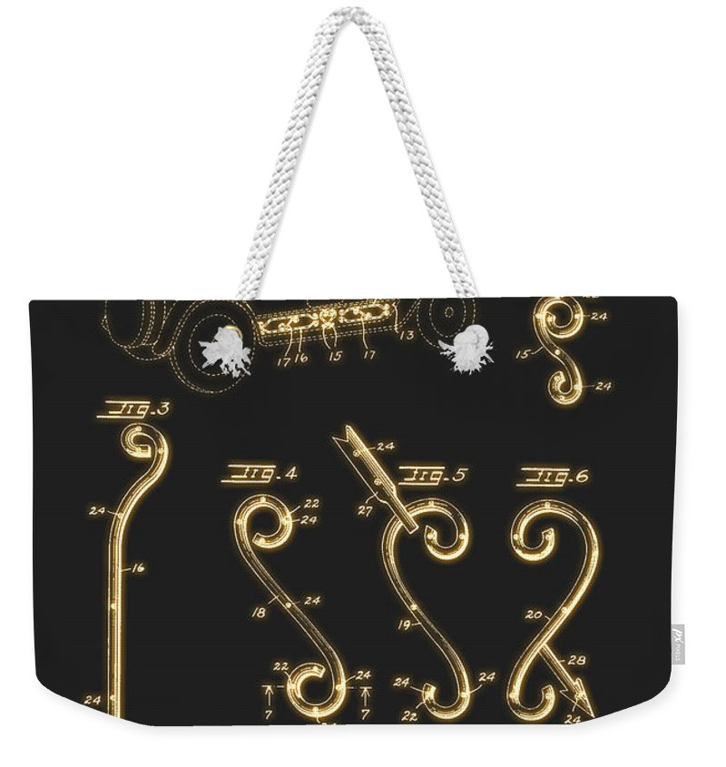 Patent Weekender Tote Bag featuring the drawing Ornamentation For An Automobile Body Patent 1934 by Mountain Dreams