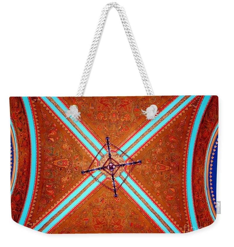 Movie Theater Weekender Tote Bag featuring the photograph Ornate Ceiling by Ed Weidman