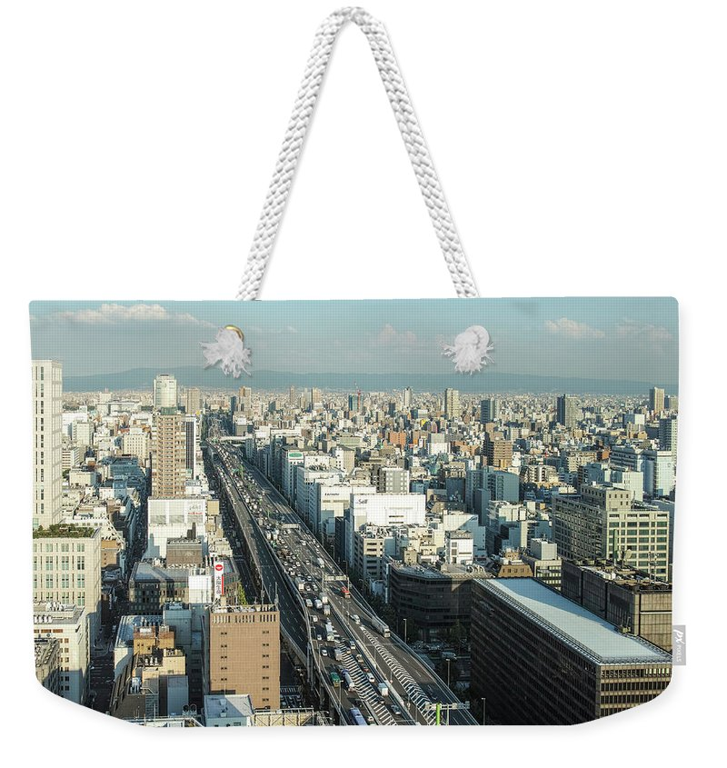Osaka Prefecture Weekender Tote Bag featuring the photograph Osaka Cityscape by I Love Photo And Apple.