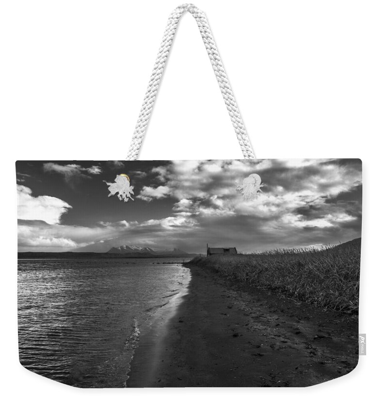Iceland Weekender Tote Bag featuring the photograph Osar Beach Iceland by For Ninety One Days