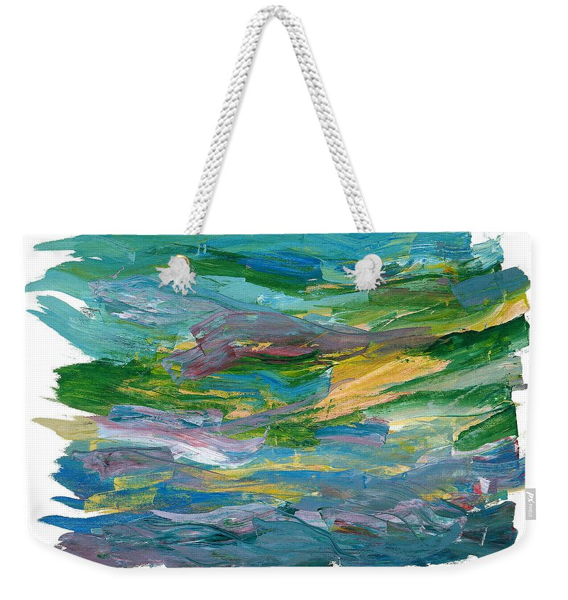 Abstract Weekender Tote Bag featuring the painting Osterlen by Bjorn Sjogren