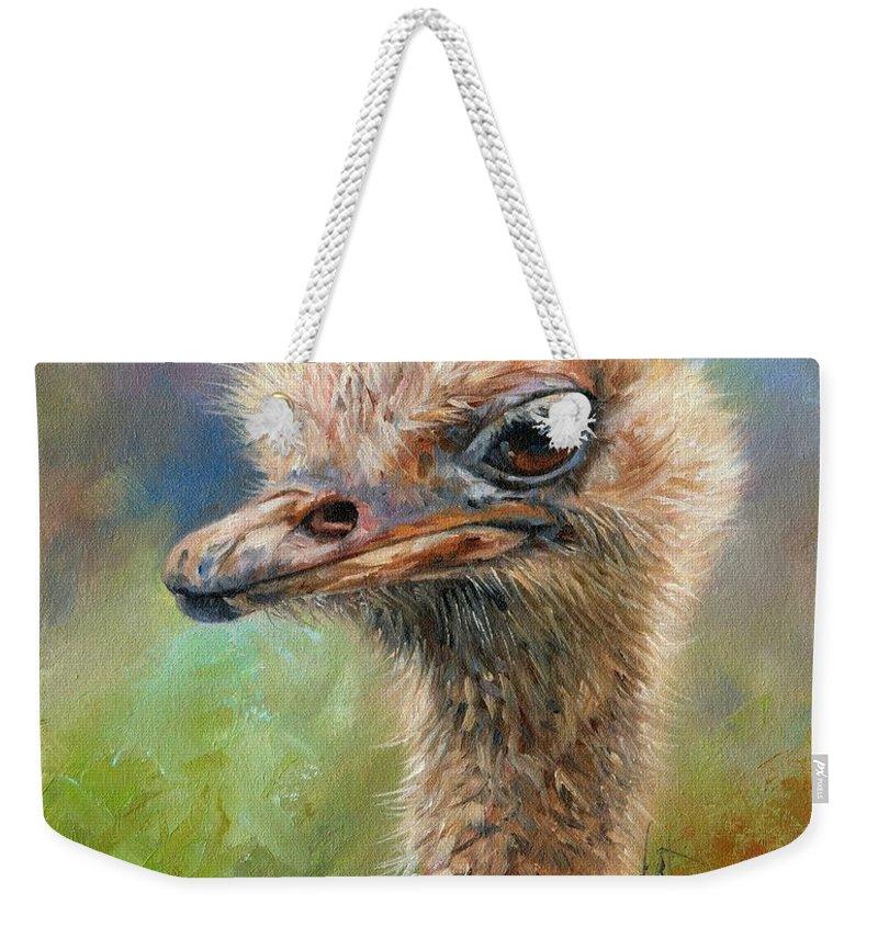 Ostrich Weekender Tote Bags