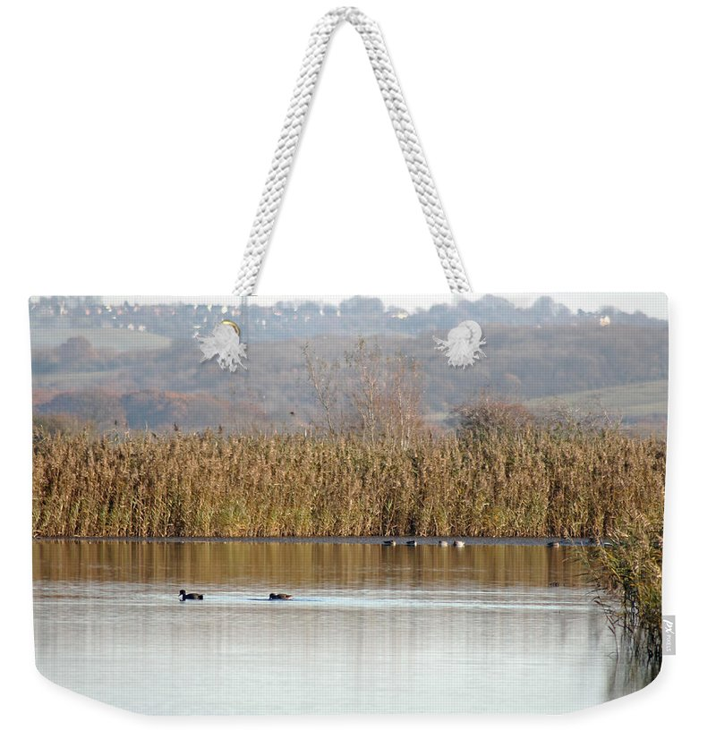 Landscape Weekender Tote Bag featuring the photograph Otmoor Nature Reserve by Tony Murtagh
