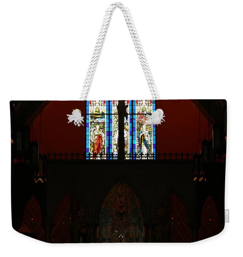 Altar Weekender Tote Bag featuring the photograph Our Lady Of The Atonement by Ed Gleichman