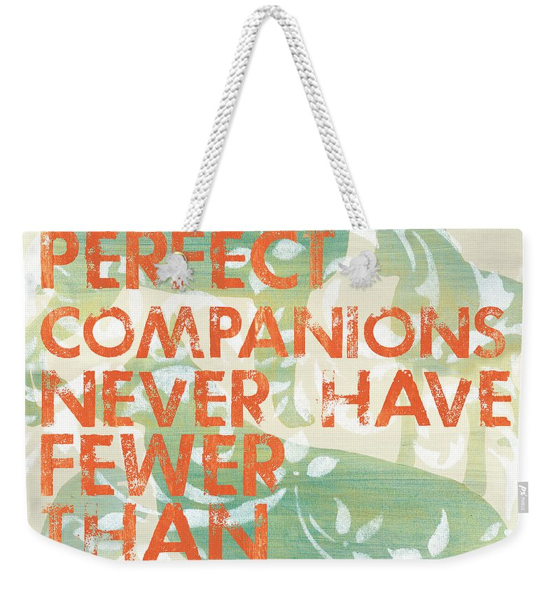 Inspirational Weekender Tote Bag featuring the painting Our Perfect Companion by Debbie DeWitt