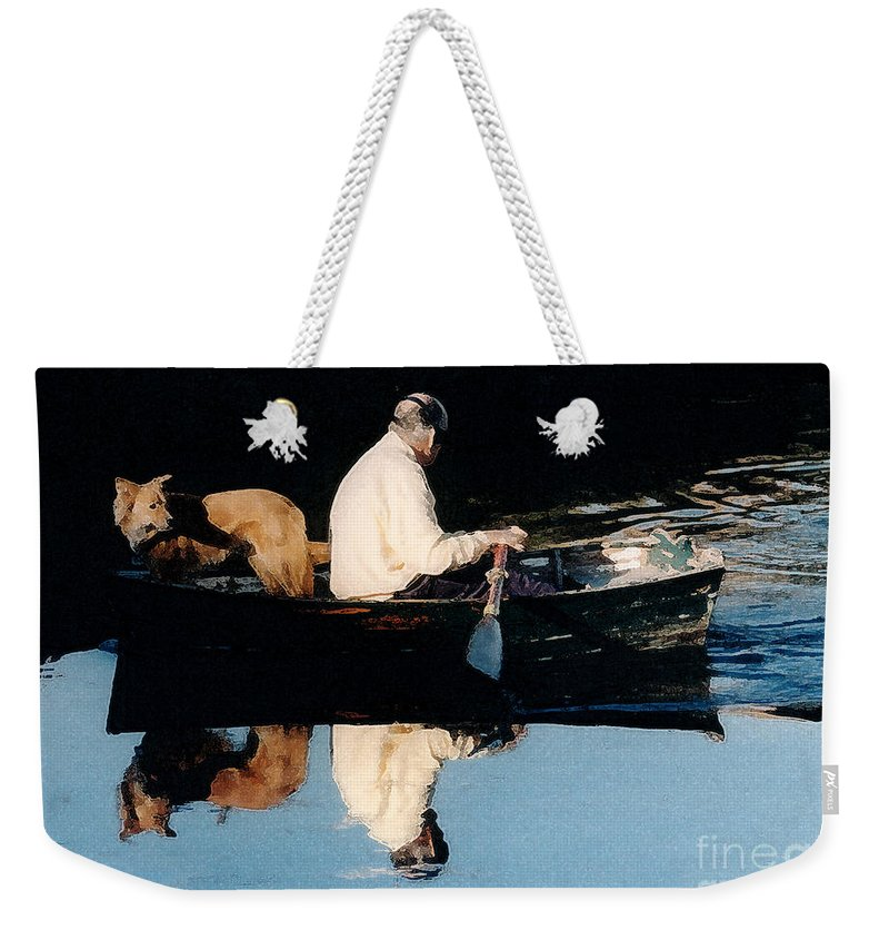 Susan Weekender Tote Bag featuring the photograph Out For A Boat Ride by Susan Crossman Buscho