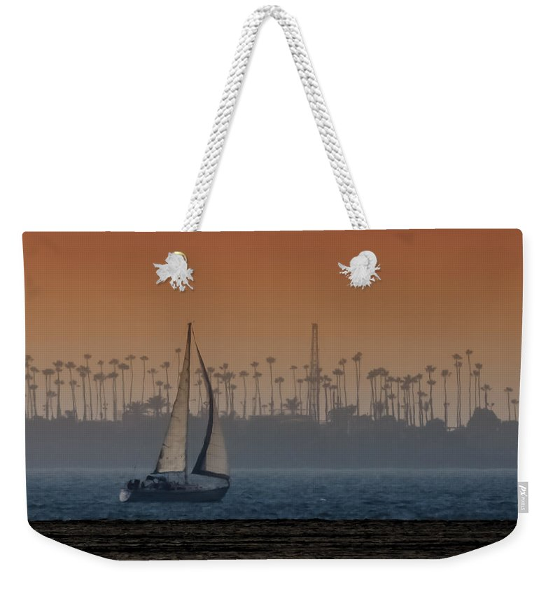 Sailboats Weekender Tote Bag featuring the photograph Out For A Sail 2 by Ernie Echols