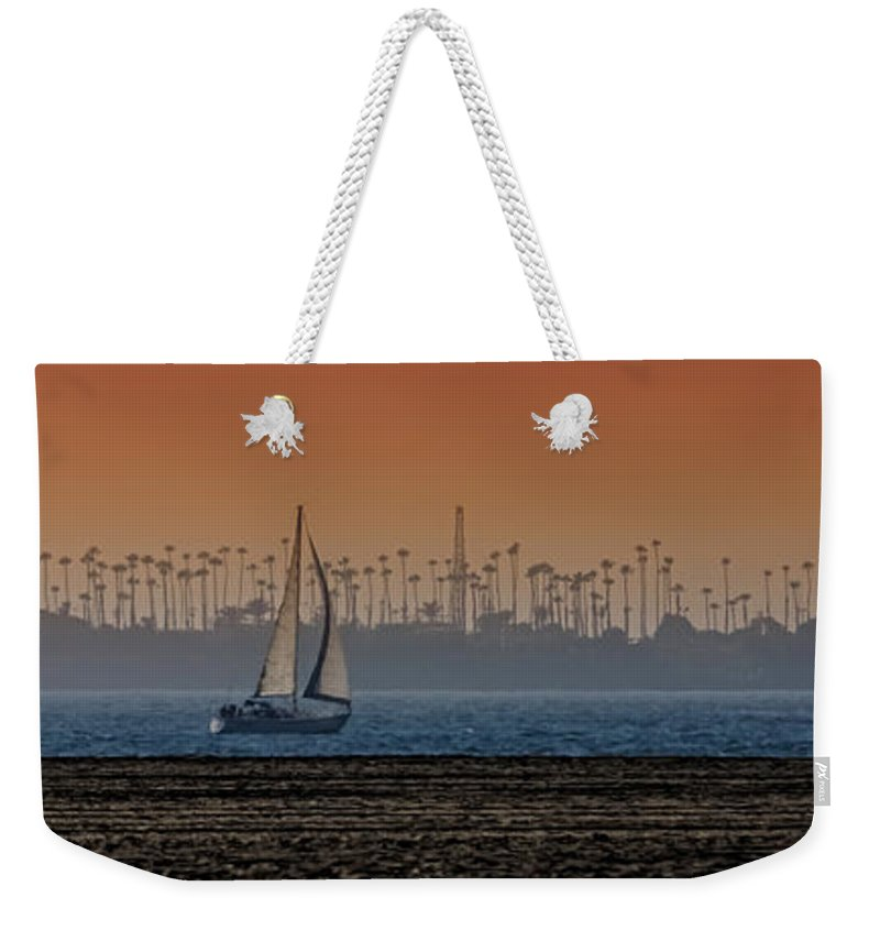 Sailboats Weekender Tote Bag featuring the photograph Out For A Sail by Ernie Echols