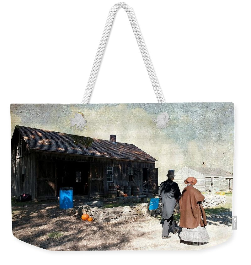 Out For A Stroll Weekender Tote Bag featuring the photograph Out For A Stroll by L Wright