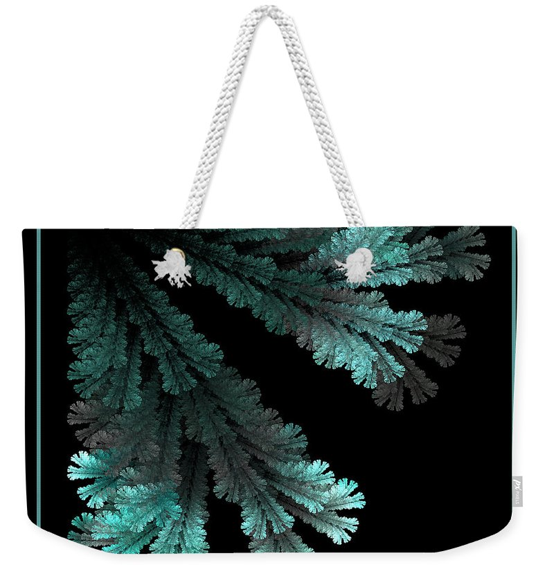 Blue Weekender Tote Bag featuring the photograph Out From The Darkness by Sylvia Thornton