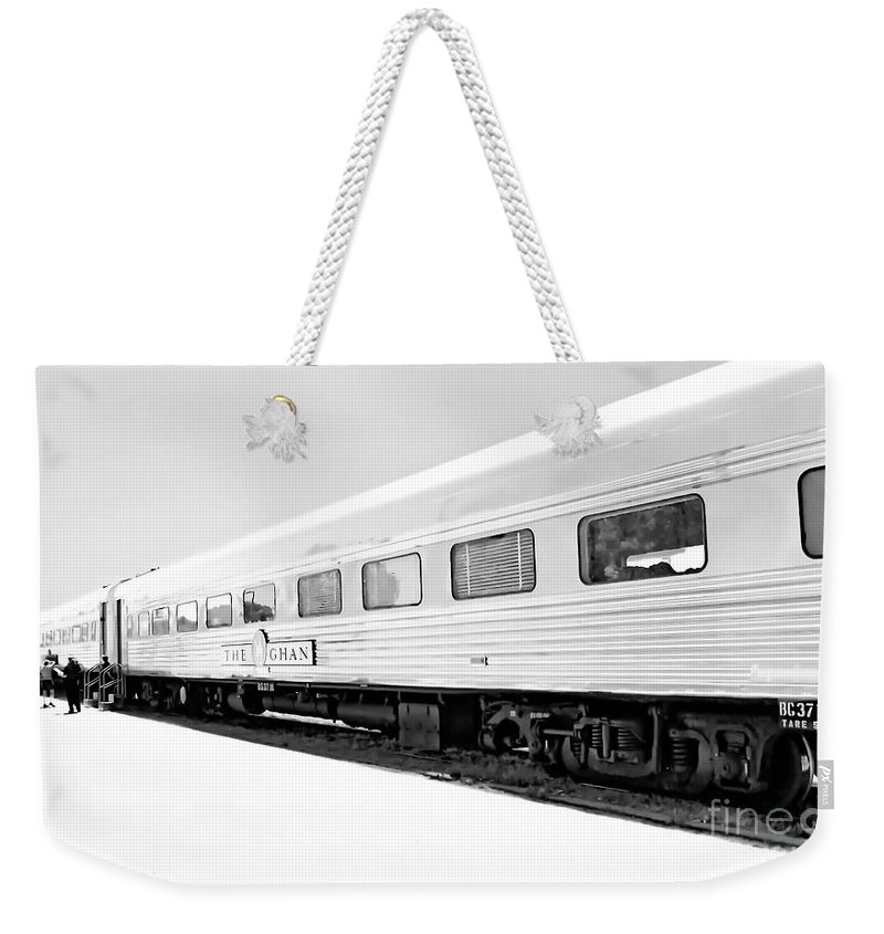 Digital Black And White Photo Weekender Tote Bag featuring the digital art Out In The Open Bw by Tim Richards