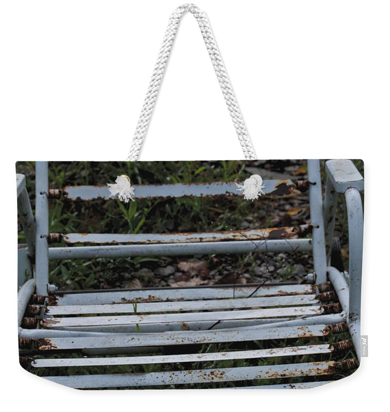 Lawn Chase Lounge Weekender Tote Bag featuring the photograph Out Of Service by William Norton
