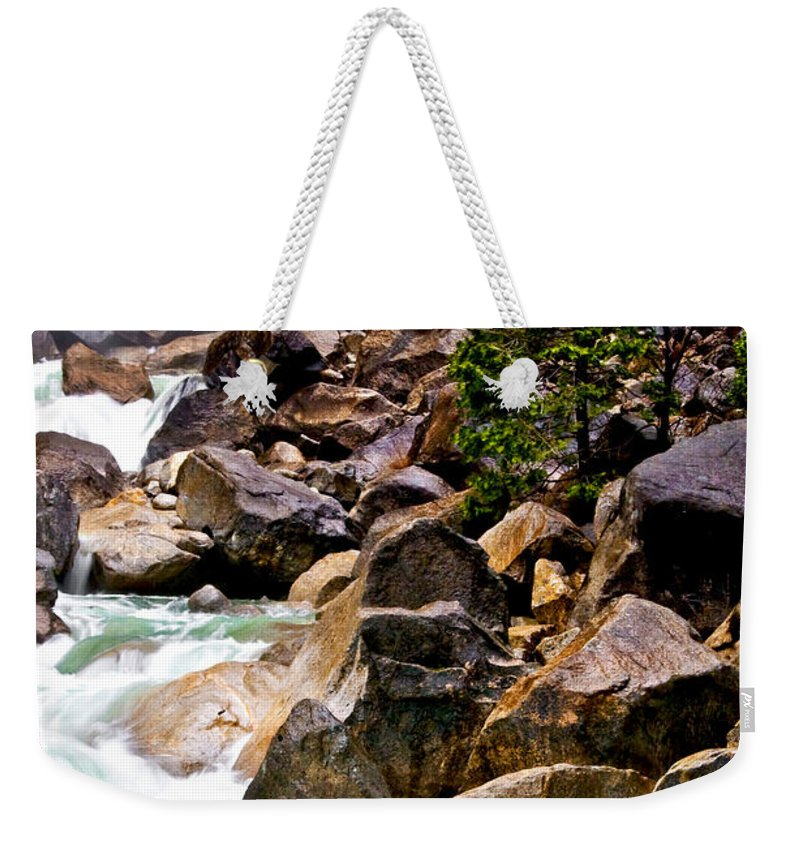 Beauty In Nature Weekender Tote Bag featuring the photograph Out Of The Mist by Maria Coulson
